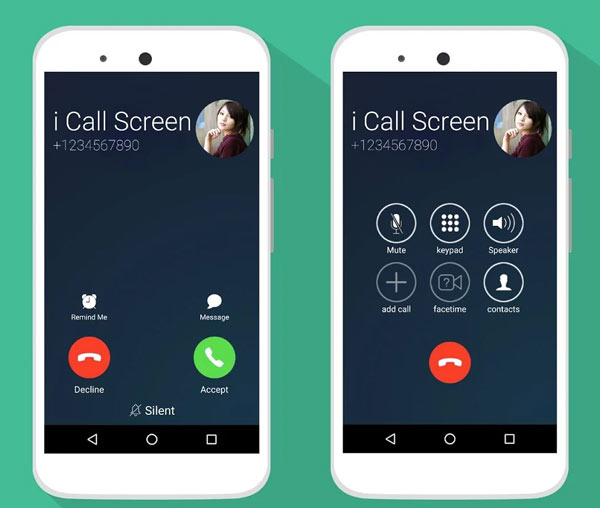 i Call screen Free + Dialer Android App