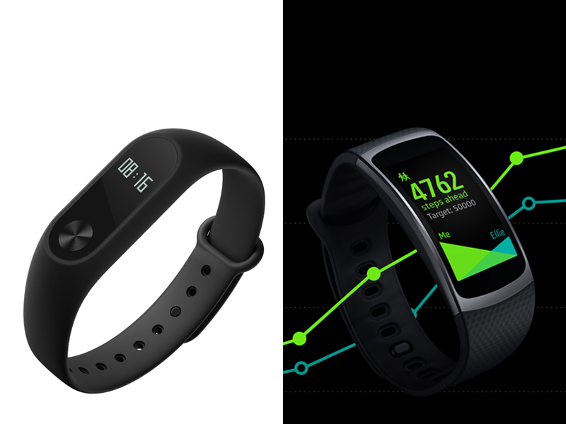Samsung Gear Fit 2 vs Xiaomi Mi Band 2: Specs, Price And ...