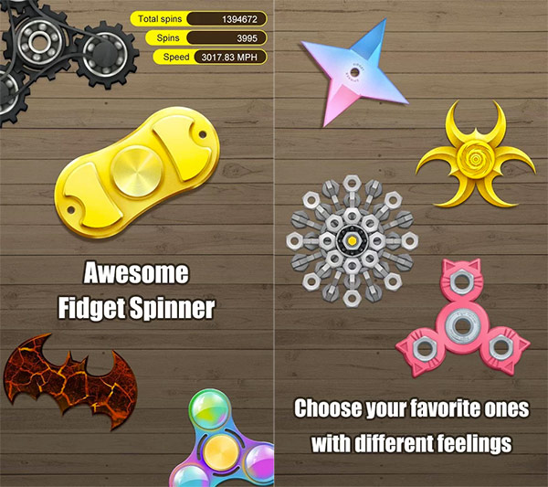 Fidget Hand Spinner app for Android and iPhone