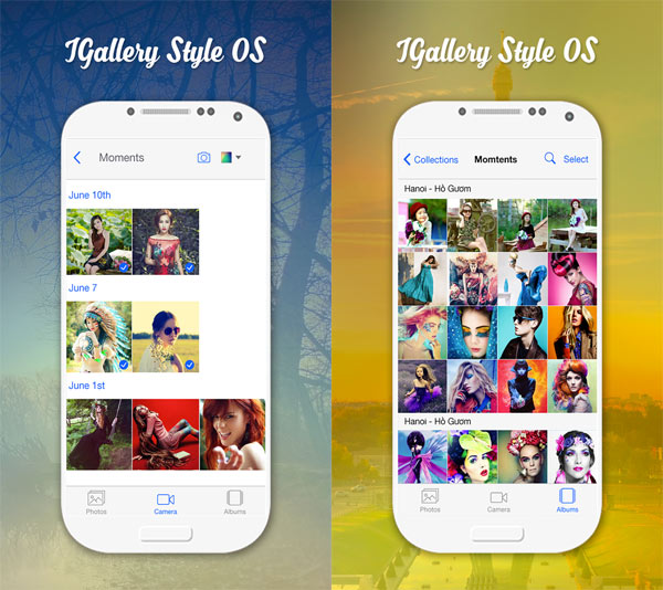 Photo Gallery OS 10 style Android App