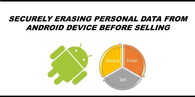 how to delete personal data from android phone