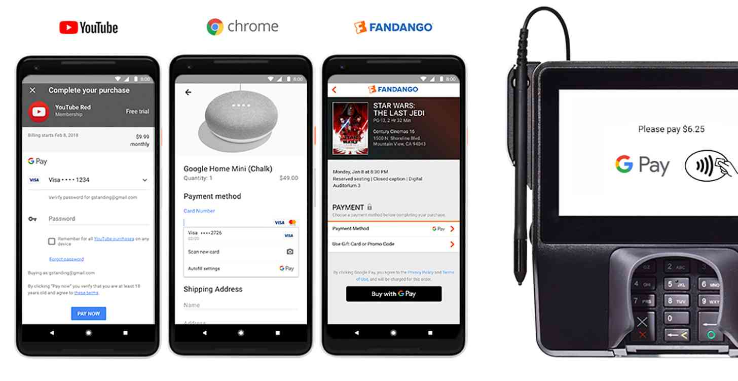 how to use google wallet online